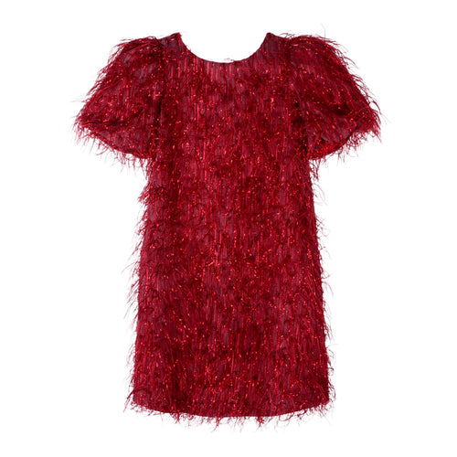 Red Fringed Dress