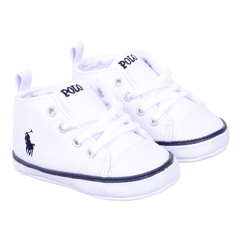 White High Top Pre Walker Trainer