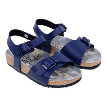 Load image into Gallery viewer, Navy Buckle Strap Sandals