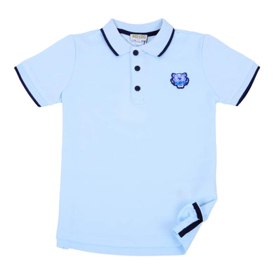 Kenzo Boys Sale Blue Polo Shirt