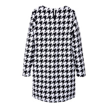 Load image into Gallery viewer, Black & White Hounds-tooth Dress