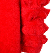 Load image into Gallery viewer, Red Fur Dress