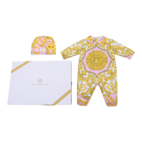Pink & Gold 2-Piece Signature Print Set