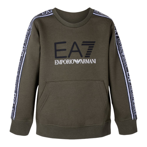 Khaki Tape EA7 Sweat Top