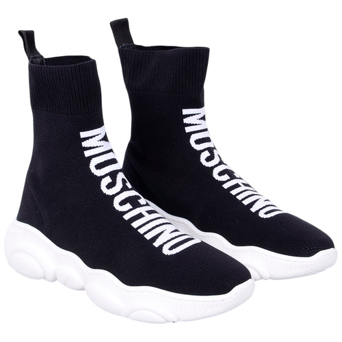 Black High Sock Trainer