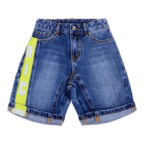 Denim Tape Trim Shorts
