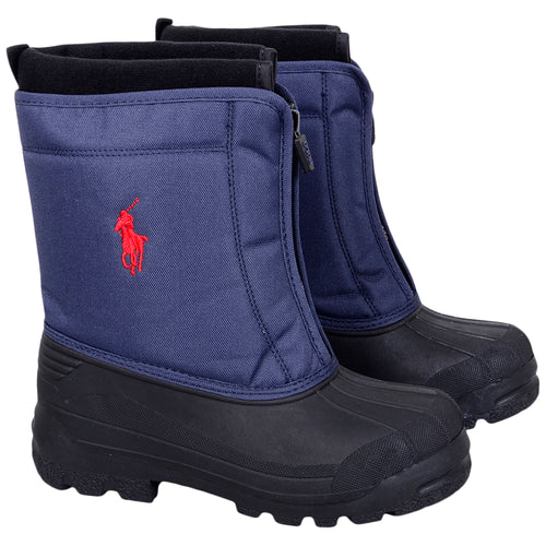 Navy 'Quilo Zip' Snow Boot