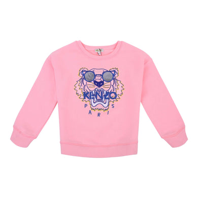 Kenzo Girls Sale Pink Sunglasses Sweat Top