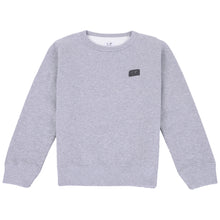 Load image into Gallery viewer, Grey Logo Patch Sweat Top