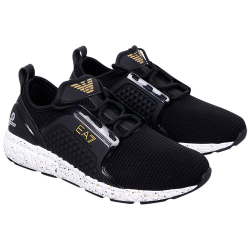 Black & Gold EA7 Trainer