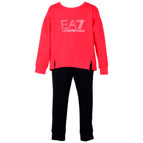 Girls Red & Black Tracksuit