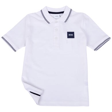 White Square Logo Polo Shirt