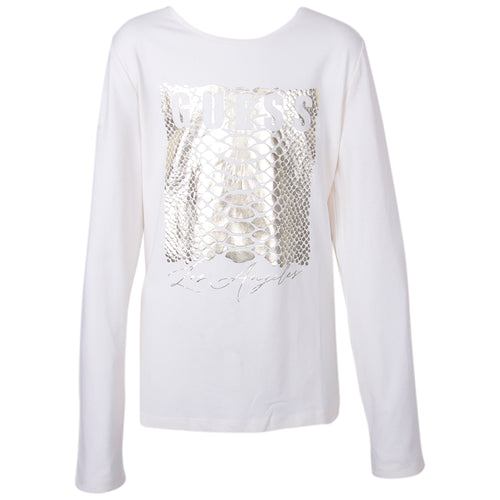 Ivory & Gold Guess Top