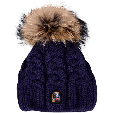 Navy Knit Bobble Hat