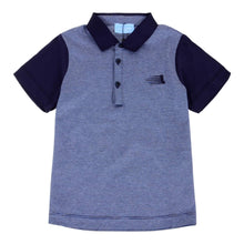 Load image into Gallery viewer, Lanvin Boys Sale Navy Stripe Polo Shirt