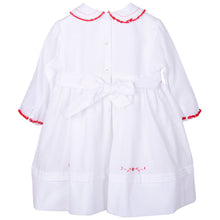 Load image into Gallery viewer, White & Red Smock Dress