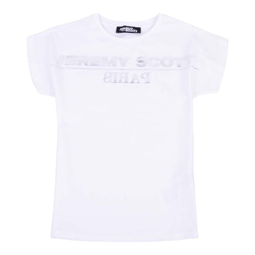 Jeremy Scott Girls Sale White & Silver Logo T-Shirt