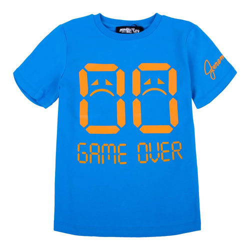 Jeremy Scott Boys Sale Blue Game Over T-Shirt