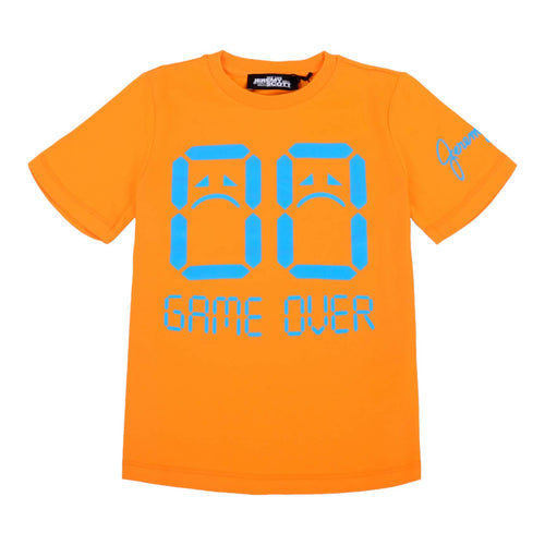Jeremy Scott Boys Sale Orange Game Over T-Shirt