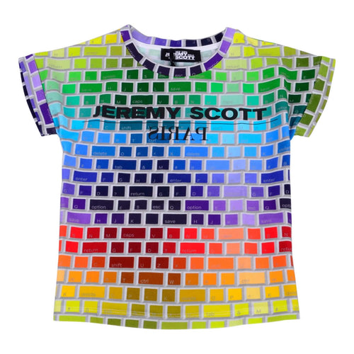 Jeremy Scott Girls Sale Multi Keyboard Print T-Shirt