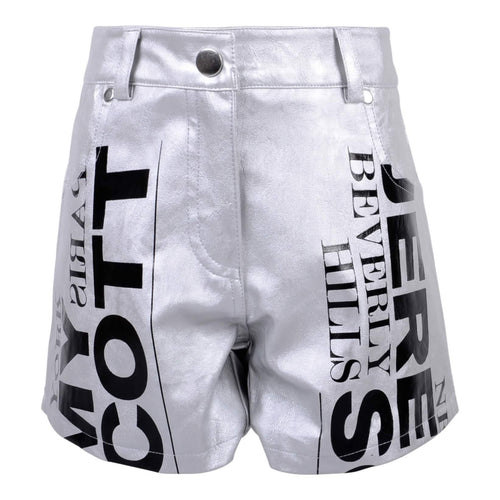 Jeremy Scott Kids Sale Girls Silver Shorts