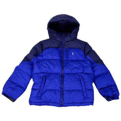 Royal Blue Down Puffer Jacket