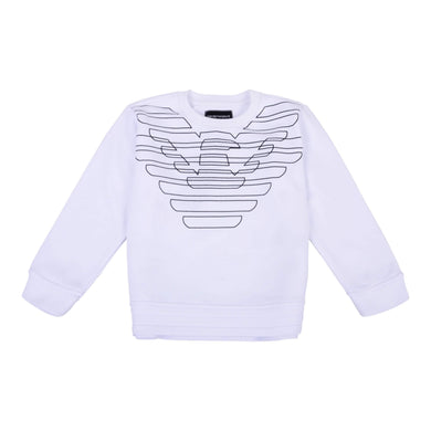 Emporio Armani Boys Sale White Eagle Sweat Top