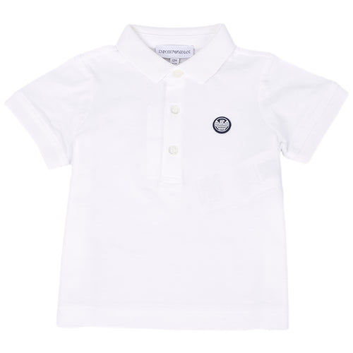 Baby Boys White Polo Shirt