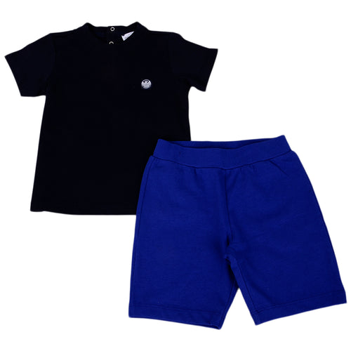Navy & Royal Blue Shorts Set