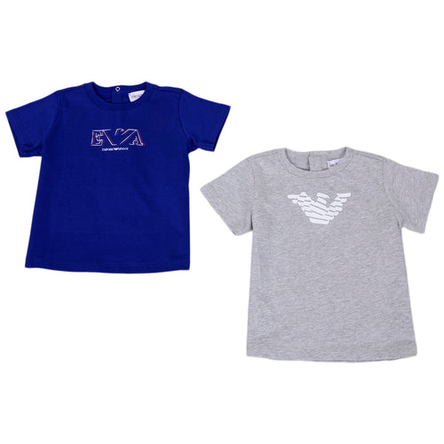 Royal Blue & Grey 2 Pack T-Shirt Set