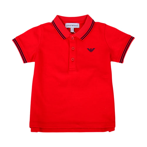 Baby Boys Red Polo Shirt