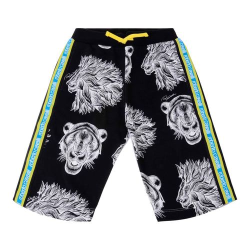 Black Printed Sweat Shorts