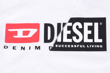 Load image into Gallery viewer, White Diesel Split Logo T-Shirt