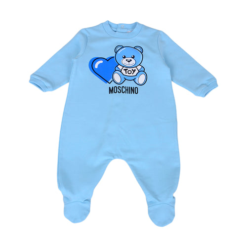 Pale Blue Heart Toy Babygrow