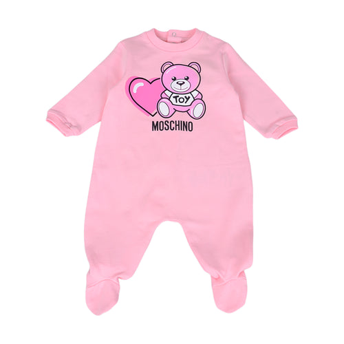Pale Pink Heart Toy Babygrow