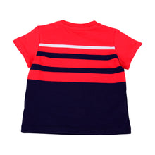 Load image into Gallery viewer, Red & Navy Stripe Toy T-Shirt