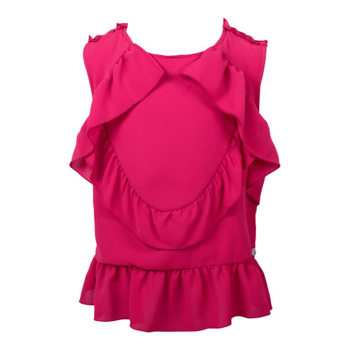 Byblos Sale Pink Ruffle Blouse