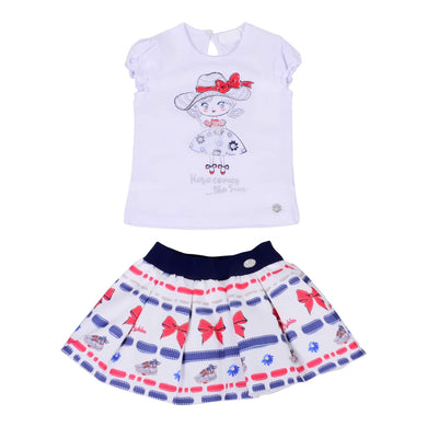 Byblos Sale Bow T-Shirt & Skirt Set