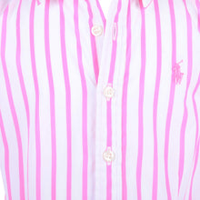 Load image into Gallery viewer, Pink & White Stripe Shirt Dress