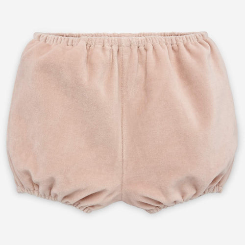 Dusky Pink Velour Shorts