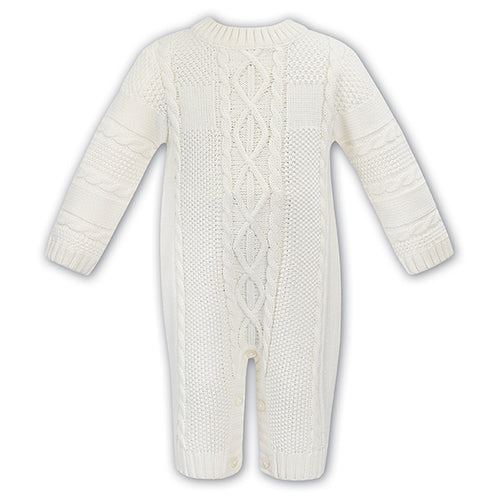 Ivory Cable Knit Babysuit