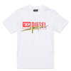 White & Red Graphic T-Shirt