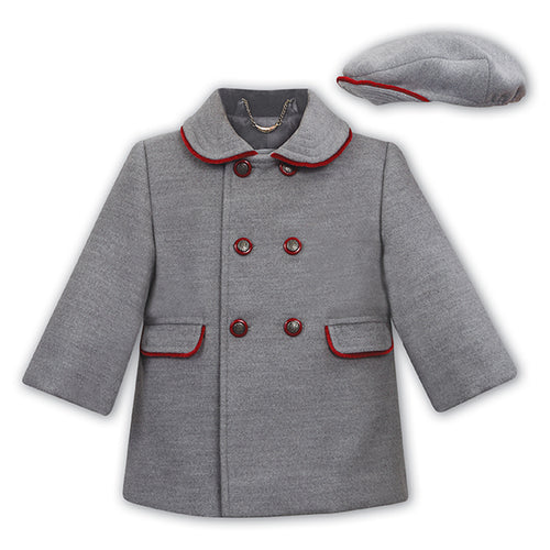 Grey Coat & Hat Set