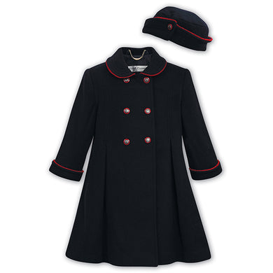 Navy Coat & Hat Set