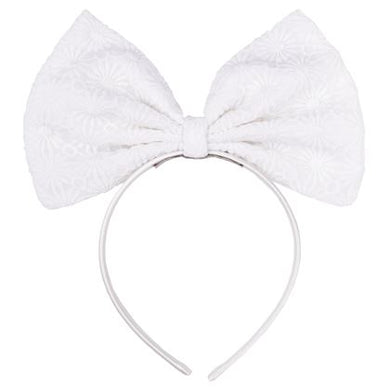 Hucklebones Sale Ivory Bow Headband
