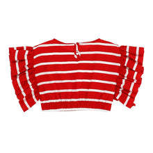 Load image into Gallery viewer, Red & White Stripe Cropped Top