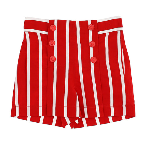 Red & White Stripe Short