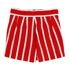 Load image into Gallery viewer, Red & White Stripe Short