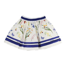 Load image into Gallery viewer, White Butterfly & Flower Skirt