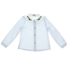 Load image into Gallery viewer, Pale Blue Rose Collar Blouse